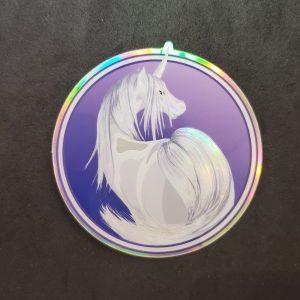 Silver Unicorn Holographic Sticker