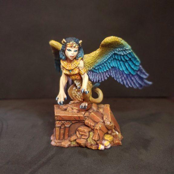 Painted Miniature Little Sphinx